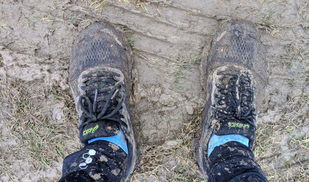 Muddy underfoot at the Excalibur One run