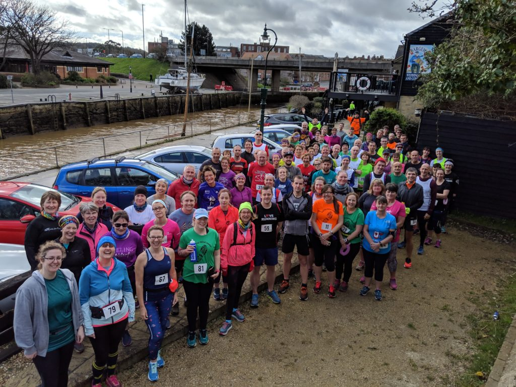 Runners at the 'Friendly Frolic'